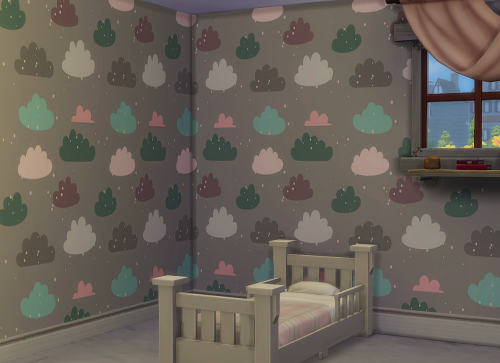 Sims 4 CC's The Best Pastel Clouds Wallpaper by ChiLlis