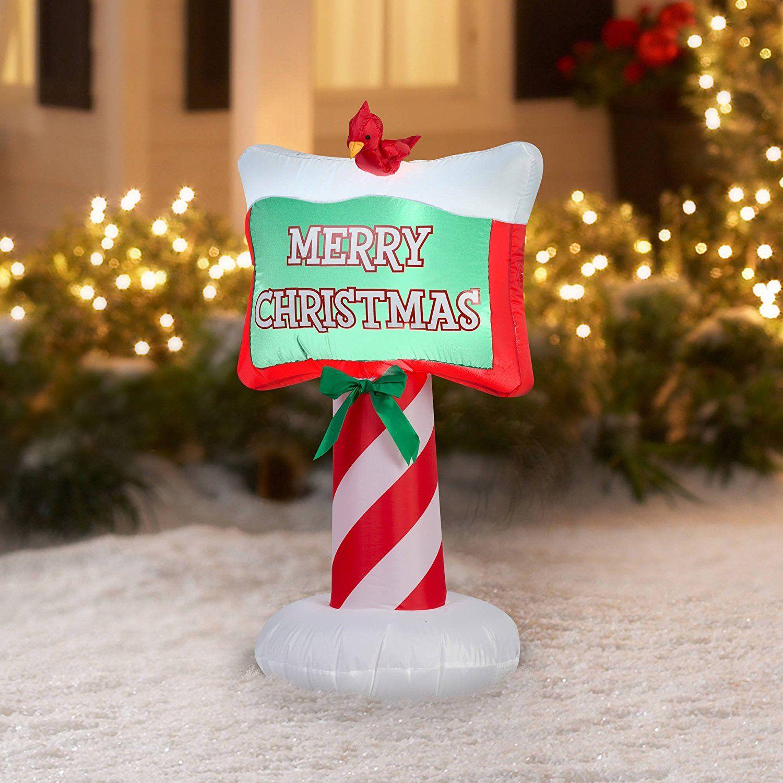 Merry Christmas Inflatable Outdoor Christmas Decor
