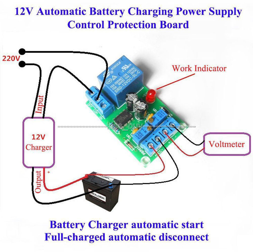 $4.59 - 12V Battery Automatic Charging Controller Module ... on