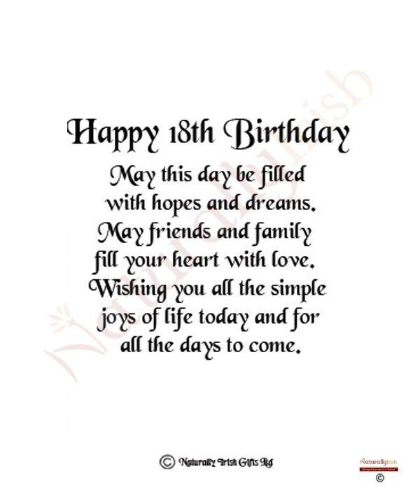 18th Birthday Quotes Funny Happy 18th Birthday Quotes Birthday Girl Quotes