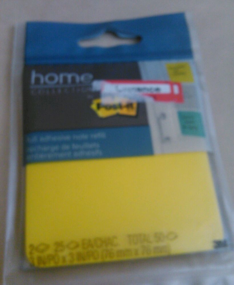 Post It Home Collection Full Adhesive Note Refill Sticky Notes #Postit