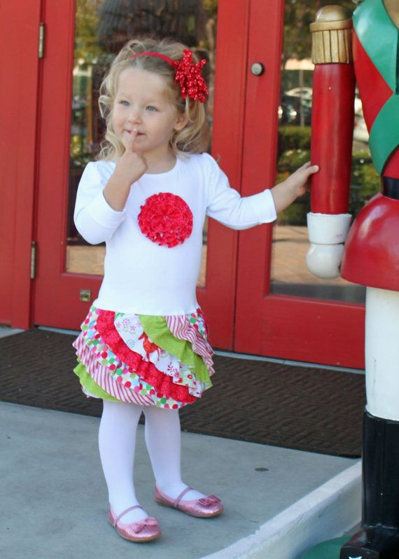 FLUFFY RUFFLE T-shirt Dress pdf sewing pattern toddler girl Valentines ruffled rosette