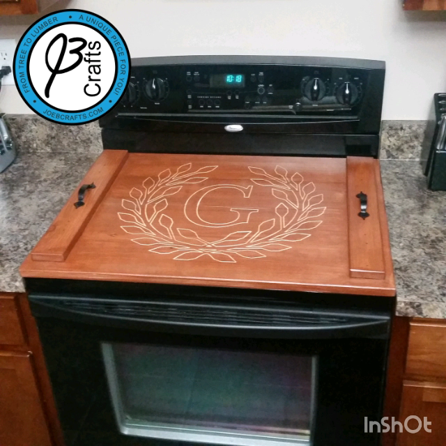 Personalized Stove Top Cover With Engraved Design Video Video Stove Top Cover Glass Stove Top Cover Wooden Stove Top Covers
