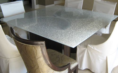 Awesome Cracked Tempered Glass Table Top