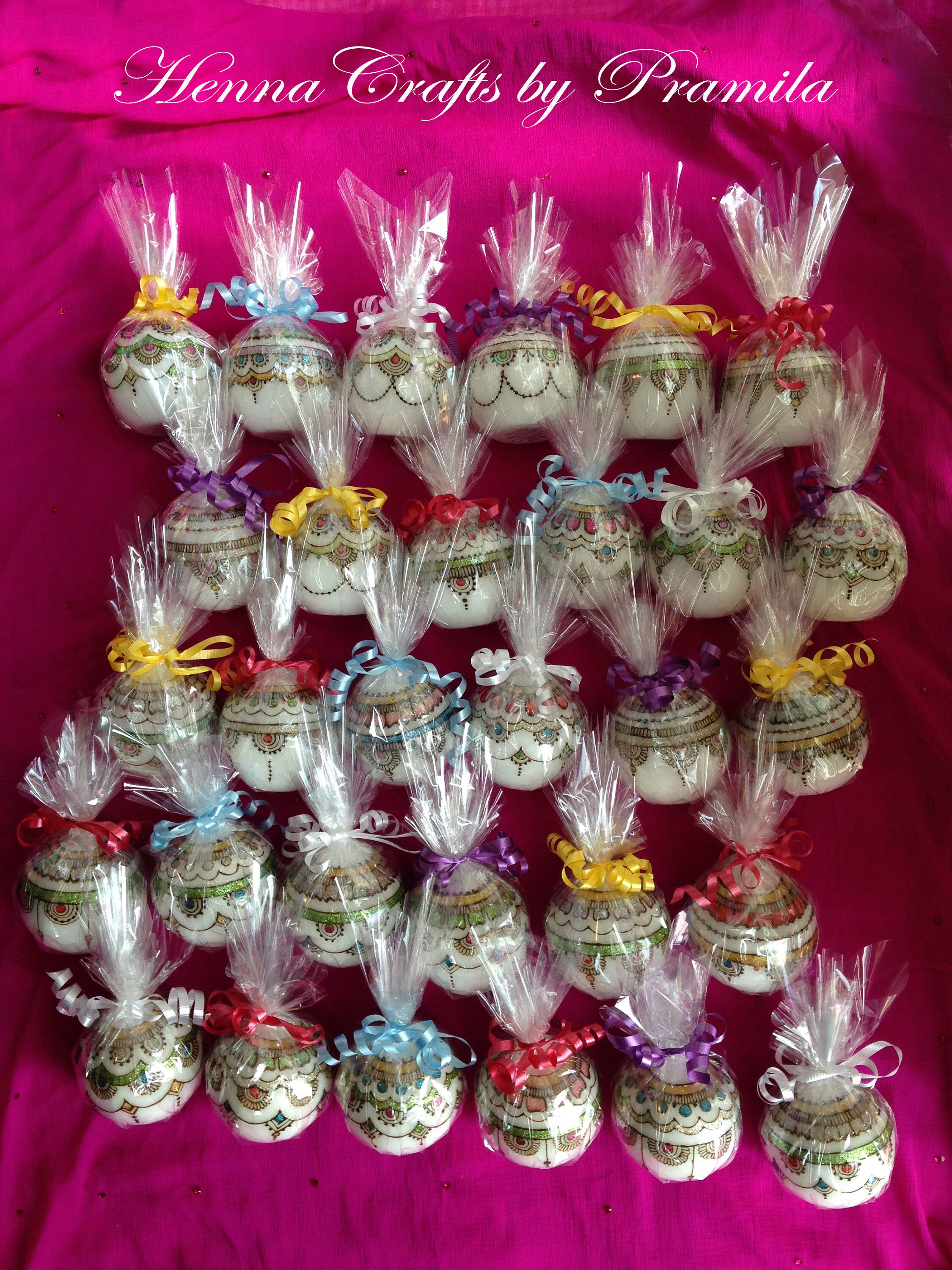 Set of 50 candles, Indian Wedding party favors, Party
