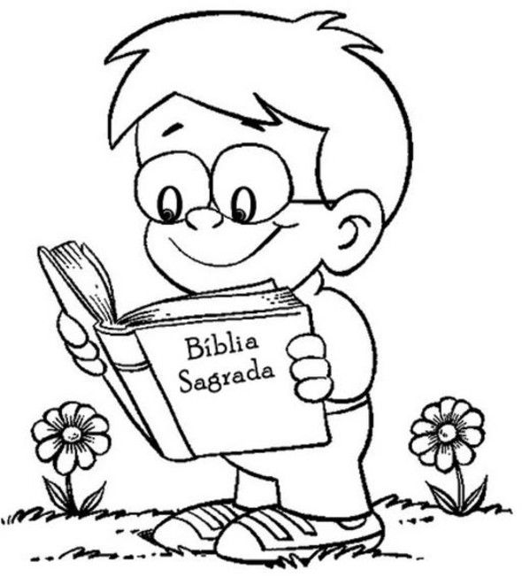 reading bible coloring pages - photo#17