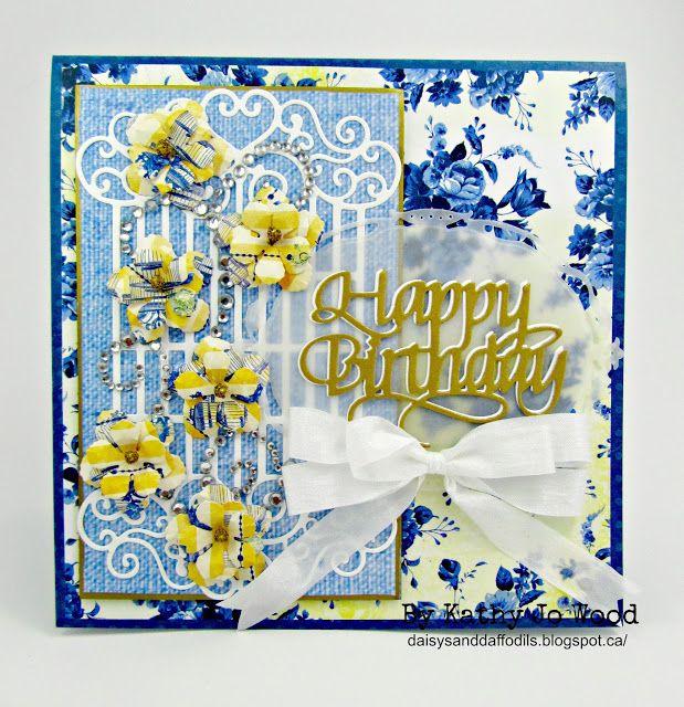 Handmade Happy Birthday Greeting Card Dies Are From Spellbinders