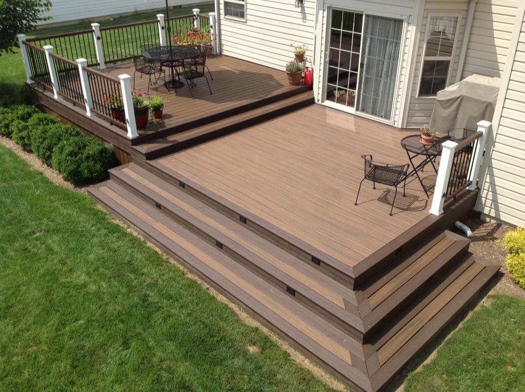 20 Insanely Cool Multi Level Deck Ideas For Your Home Patio Deck Designs Decks Backyard Backyard Patio