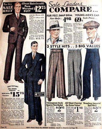 1930s Men S Fashion Guide What Did Men Wear Vintage Clothing Men Vintage Mens Fashion Mens Fashion Suits