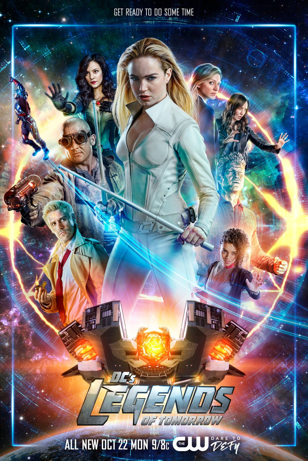 Die Superhelden Aus Legends Of Tomorrow Gehen Mit Diesem Poster In