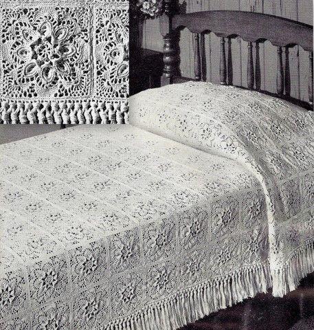 CROCHETED BEDSPREAD PATTERNS - Crochet Club | Crochet Bedspread ...