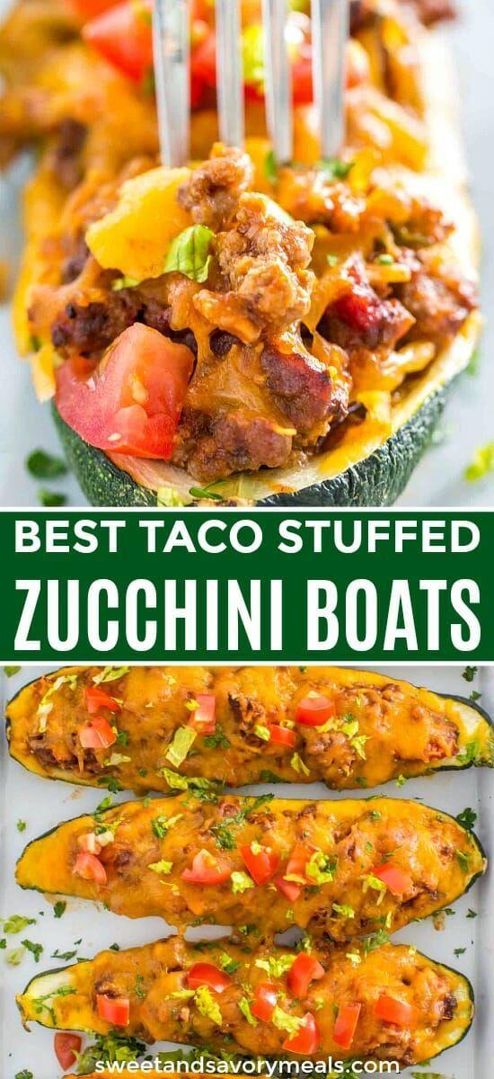 Photo of Taco Stuffed Zucchini Boats [Video] – Sweet and Savory Meals
