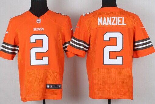 09df79982d3 Nike Cleveland Browns  2 Johnny Manziel Orange Elite Jersey