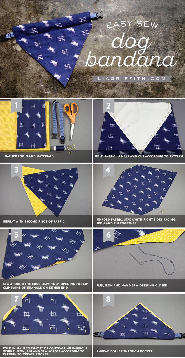 Make An Easy Diy Dog Bandana Sewing Projects For Beginners