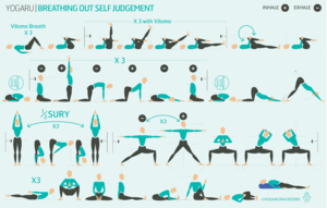 breathing out self judgement  yoga flow sequence gentle