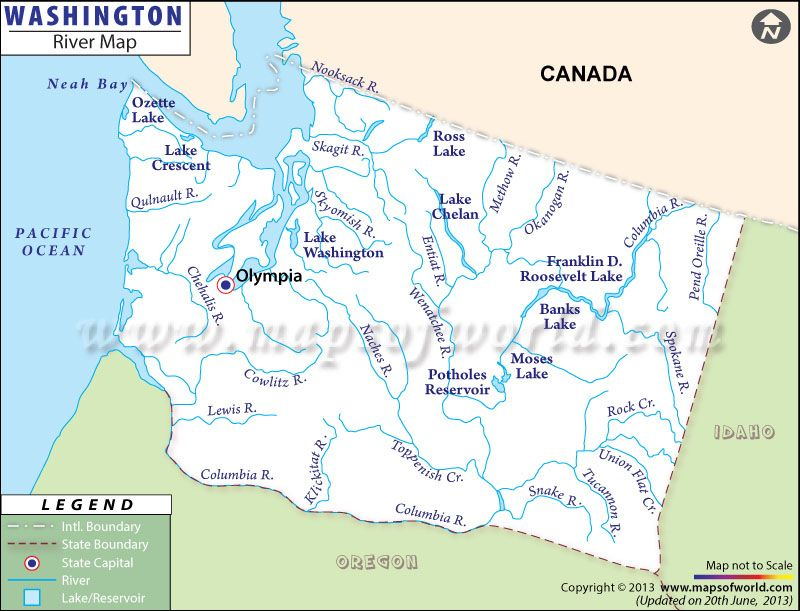 Washington River Map | #worldmapstore | Washington river ...