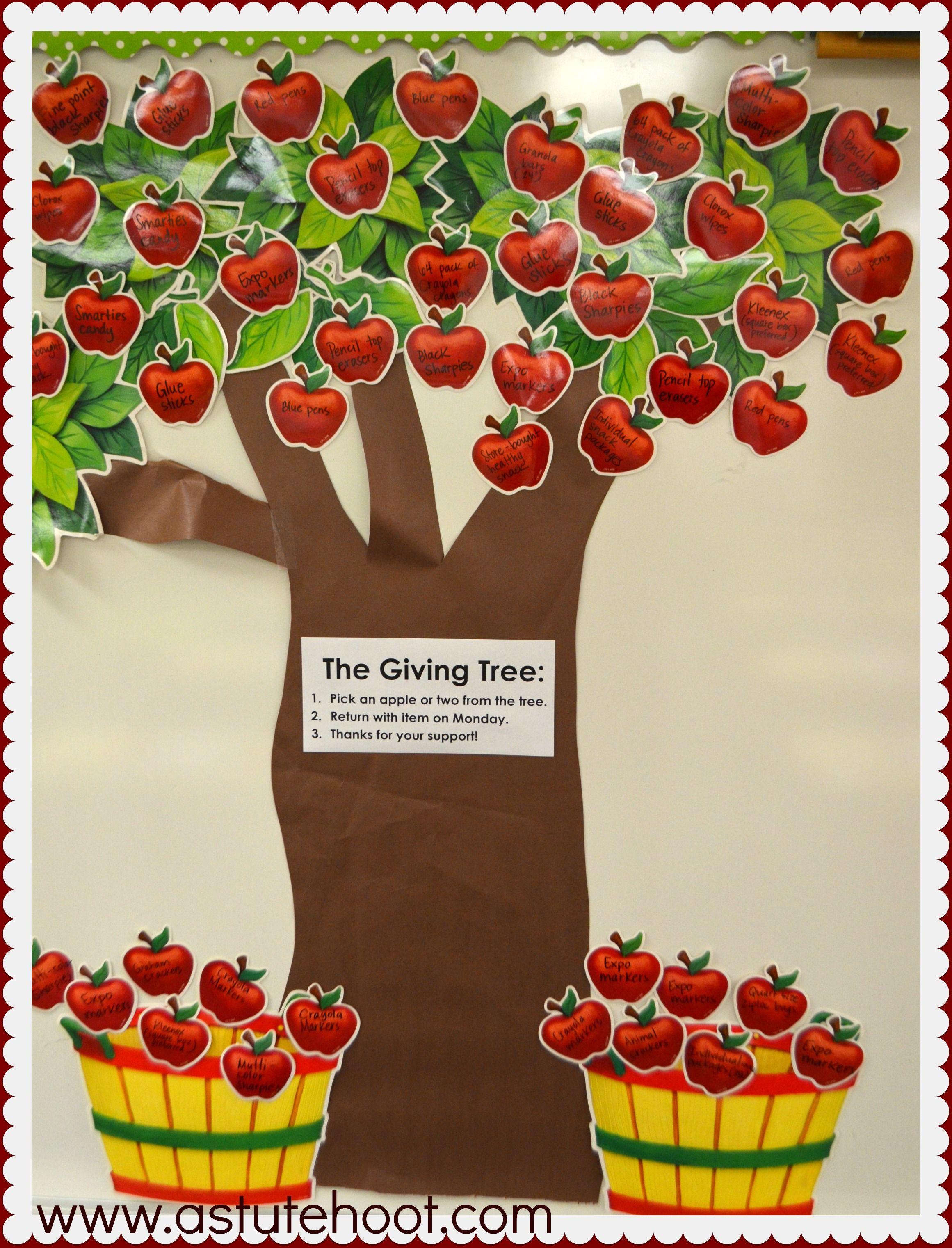 Classroom Giving Tree Ideas ~ Master meet the teacher conquer curriculum night
