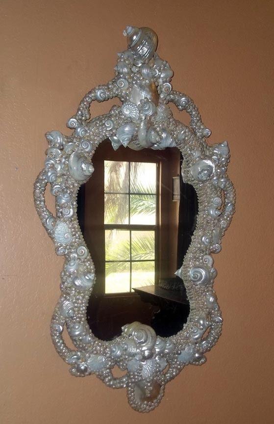 French Venetian Rococo Pearl Shell Encrusted Mirror Ebay