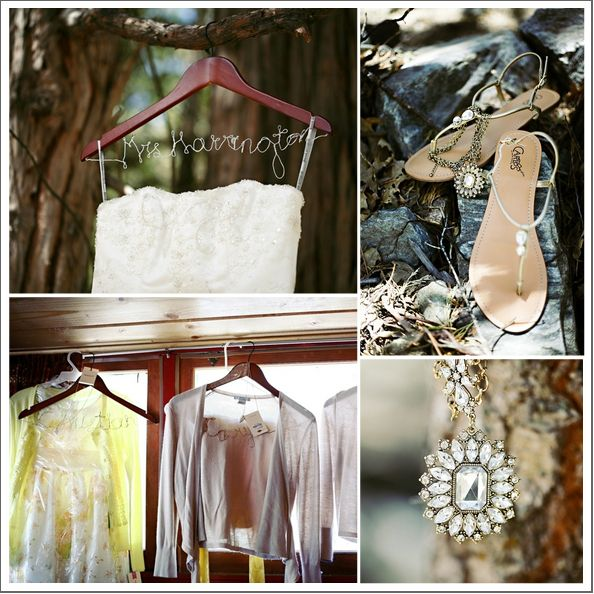 Rustic Wedding Gown, shoes & sweater