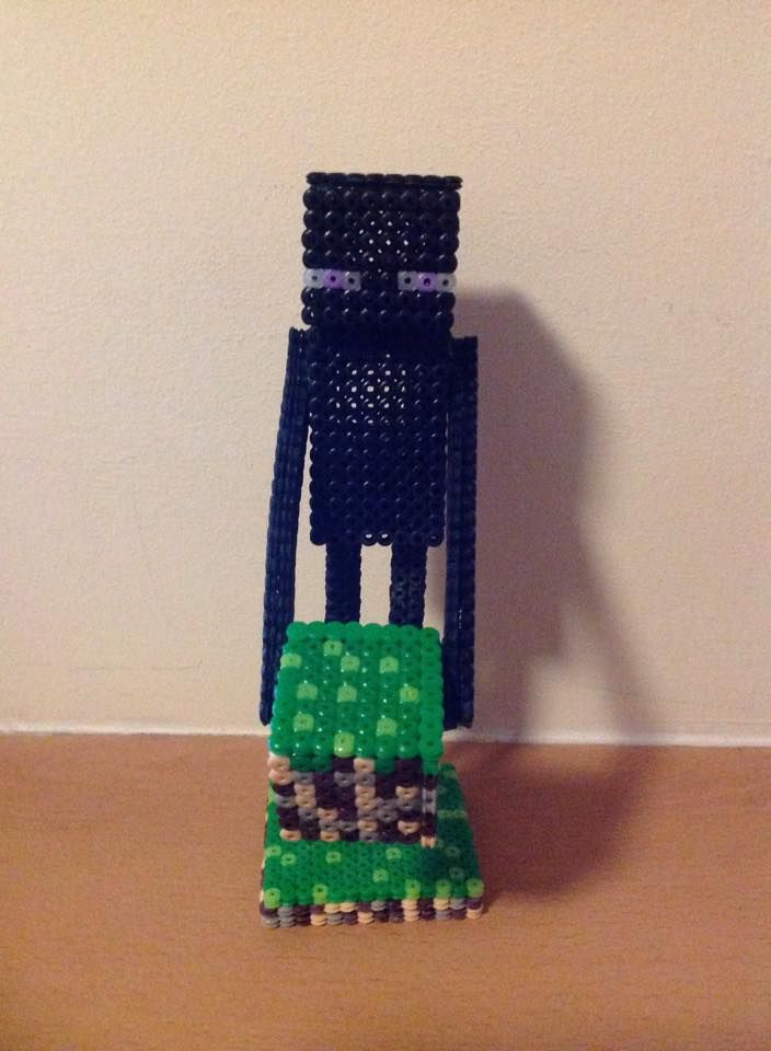 Perler beads minecraft 3d enderman