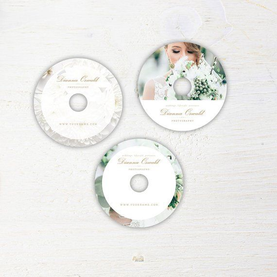 DVD Template for Photographers - Wedding Photography Templates, CD