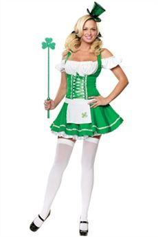 53c6b65e5 Sexy disfraz de duende irlandés de la suerte