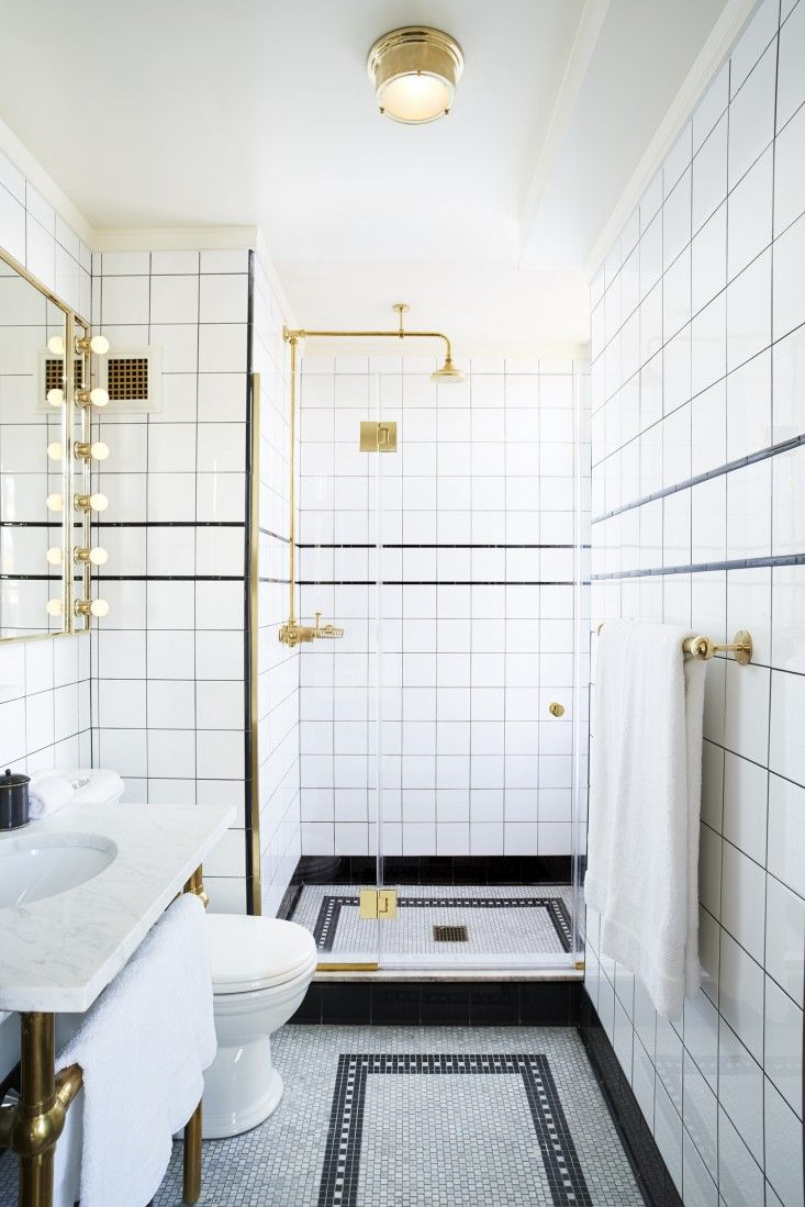 The Ludlow Hotel: Downtown NYCu0027s Most Glamorous New Clubhouse. White Tile  BathroomsHotel ...