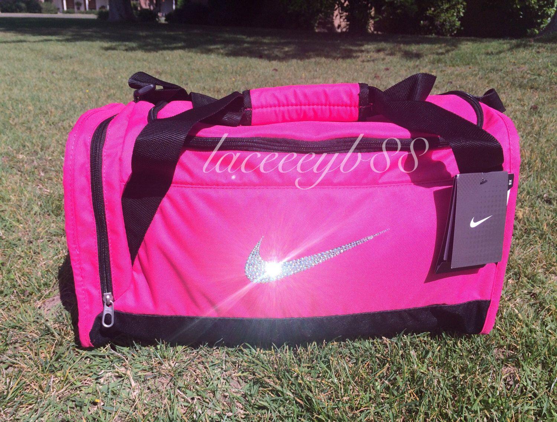 db575596fa23 Bling Swarovski Nike Duffle Bag by laceeeyb88 on Etsy https   www.etsy