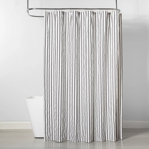Stripe Shower Curtain Black White Project 62 Black White
