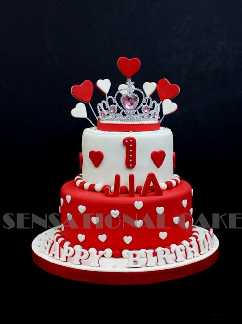 Outstanding Princess Tiara Cake Singapore Heart Red White Design Cake Funny Birthday Cards Online Chimdamsfinfo