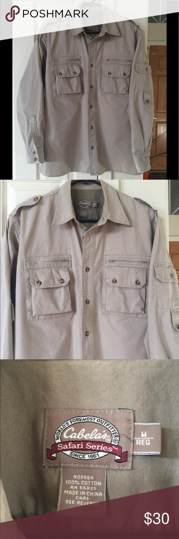 Cabelas Safari Series M Safari Style Clothes Design Casual Button Down Shirts