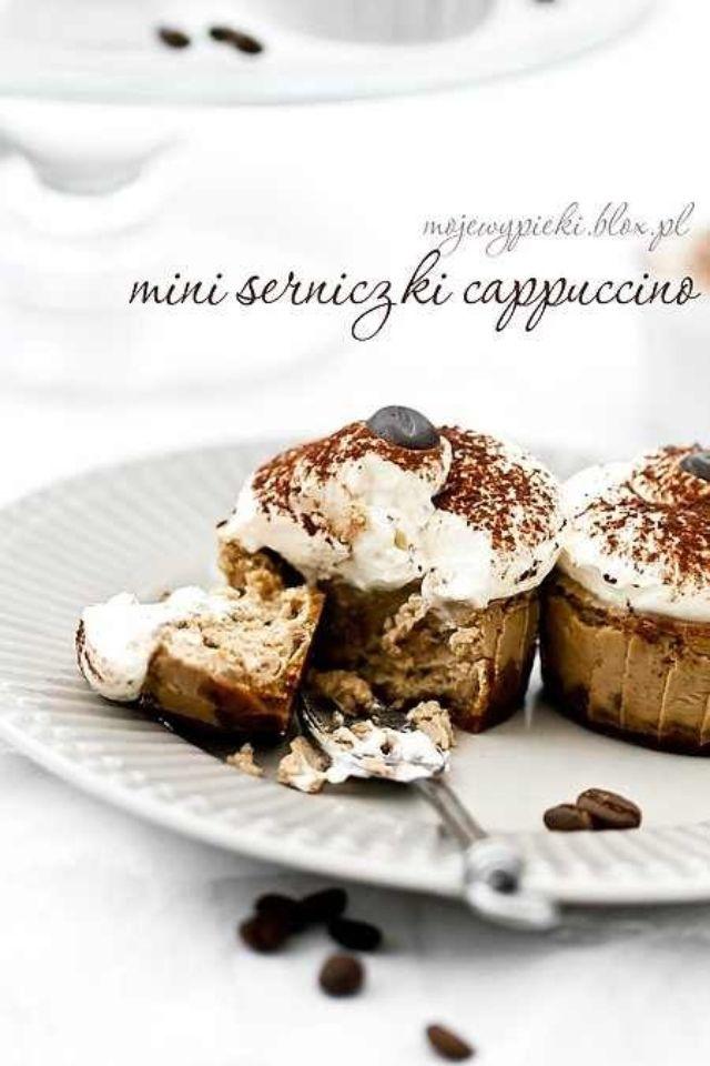 Mini cappuccino cheesecakes
