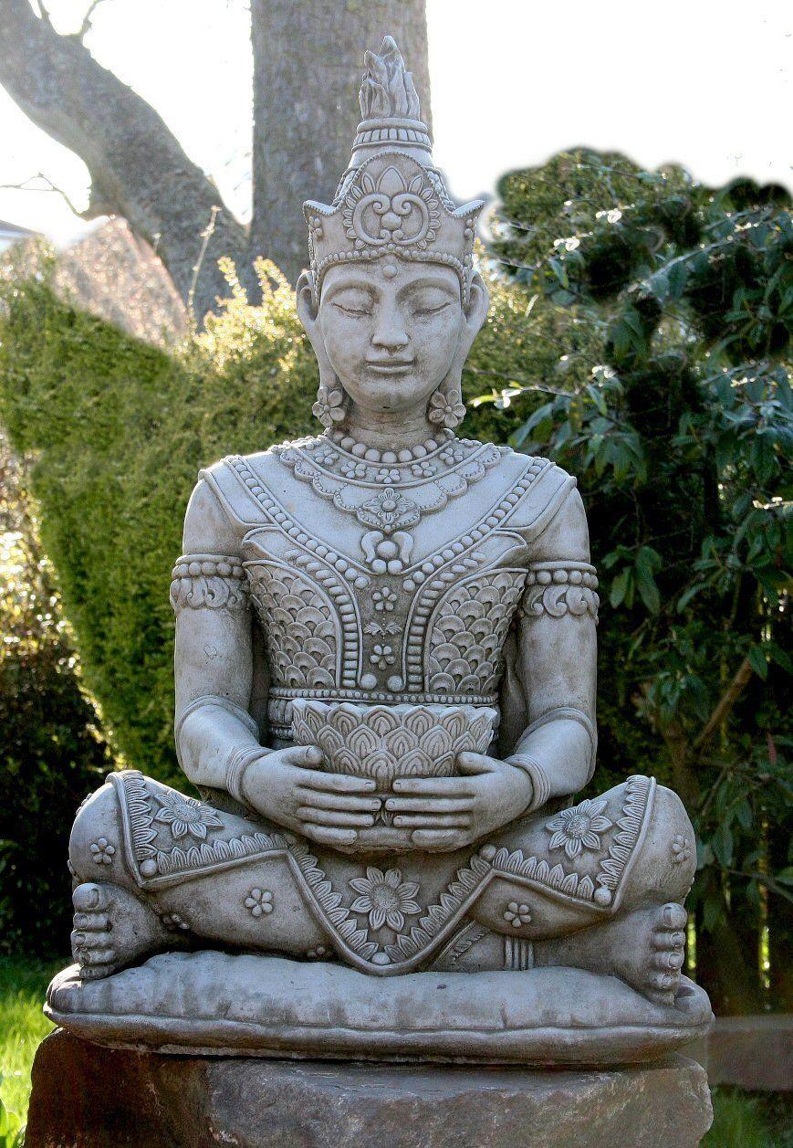 Superbly Detailed Thai Sitting Oriental Buddha Garden Ornament Statue Buddha Garden Resin Garden Statues Garden Ornaments