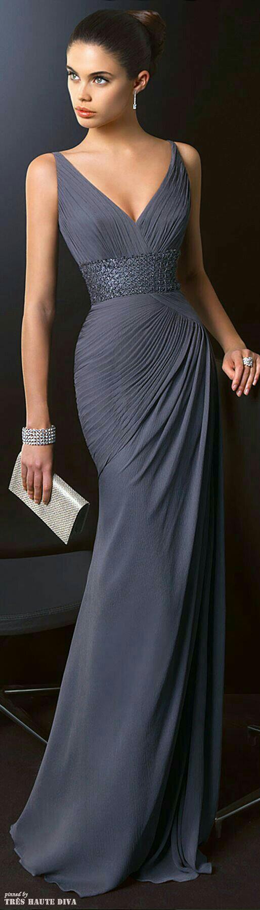 Pin by Melissa on Simply elegant Pinterest Gray dress Elegant