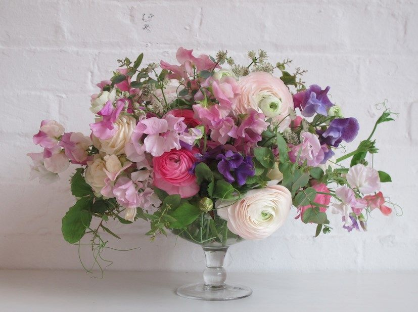 Beautiful footed glass bowl for a table arrangement