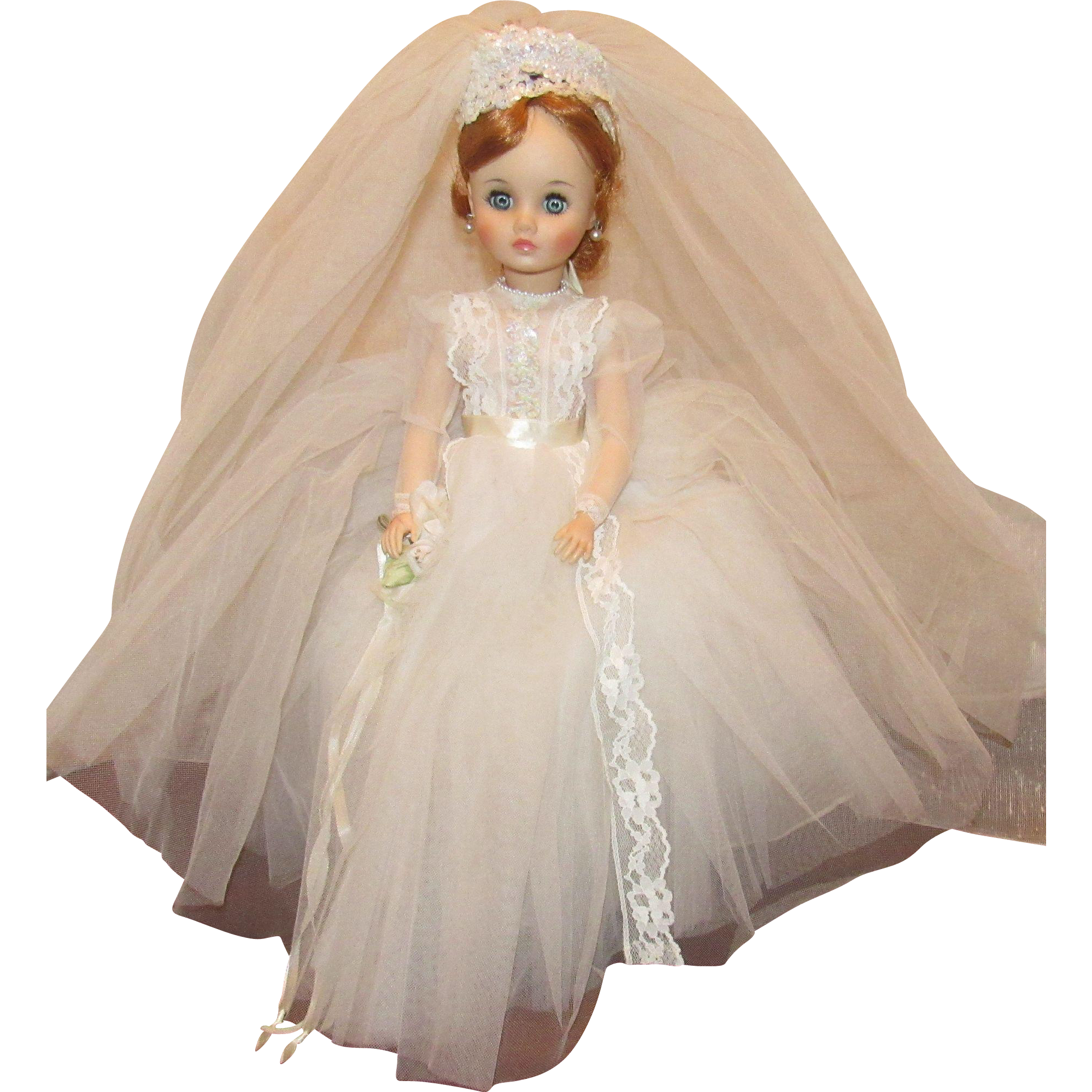 Madame Alexander Stunning Rare Red Head Elise Bride Doll 18 In Tagged Gown All Original #bridedolls
