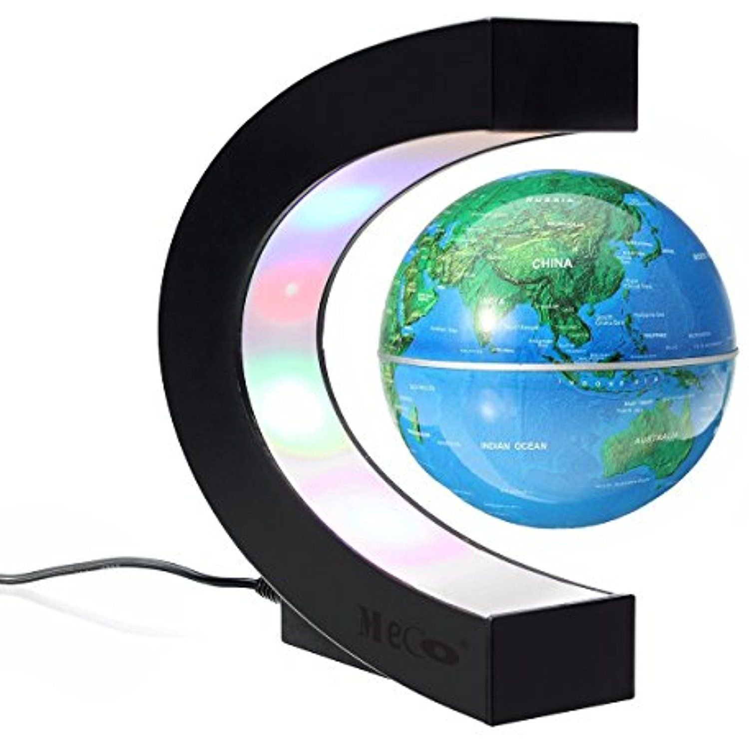 Meco 3 funny c shape magnetic levitation floating globe world levitation led lamp by spaceb unique gifts room decor night light novelty birthday floating magnetic levitron home office desk tech toys geotapseo Image collections