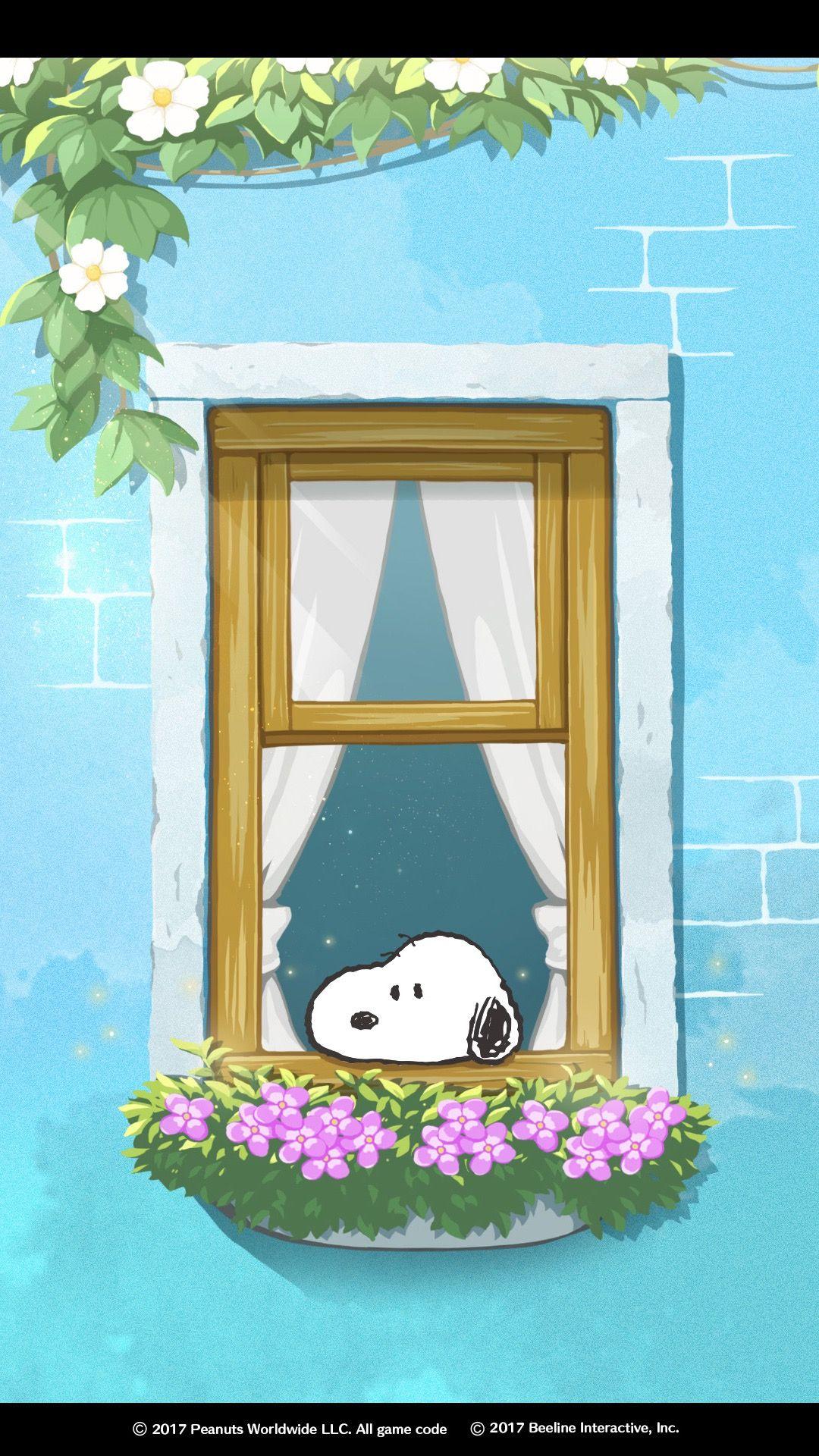 Snoopy スヌーピー 壁紙 窓