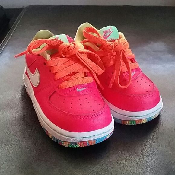 4c1a8c9a5ea4 Baby Girl Nike Air Force Ones LIMITED EDITION Baby Girl Nike Air Force Ones  LIMITED EDITION. Practically Brand New. Clean SMOKE FREE Home. Size 5C.