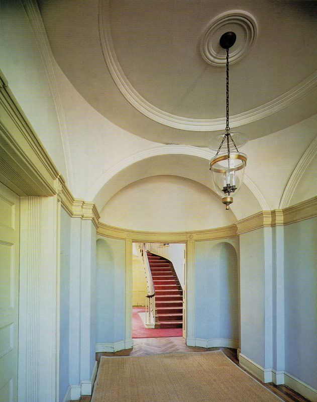 The neoclassic entrance vestibule of the Stephen Decatur House     The neoclassic entrance vestibule of the Stephen Decatur House  Washington   D C   designed by Benjamin Henry Latrobe