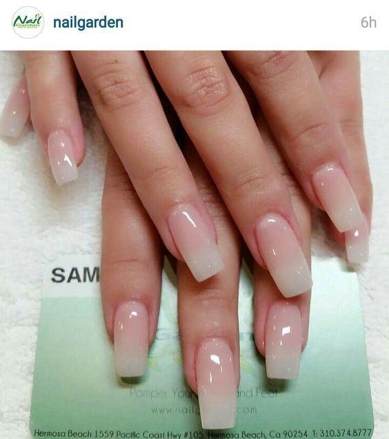 Long natural french nail --- my absolute favorite set   Nail Art ...