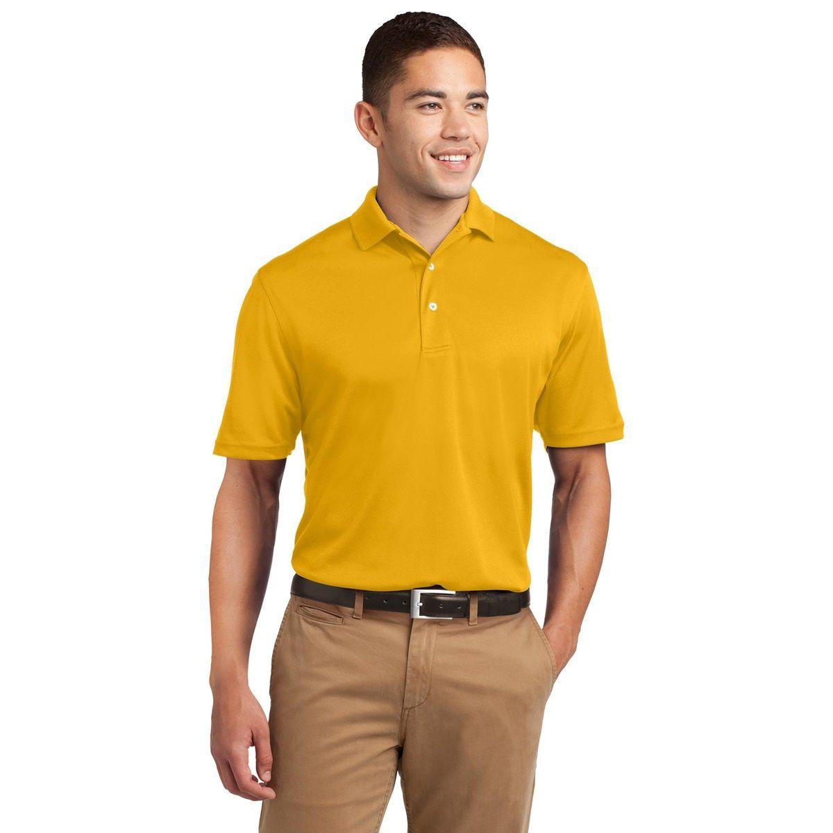 SportTek K469 DriMesh Polo Shirt Gold Polo shirt