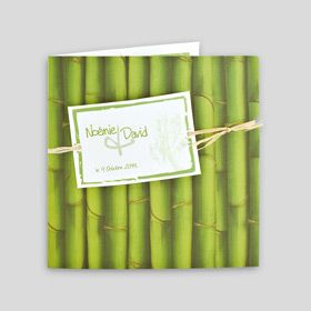 J0537 : Faire-part bambou