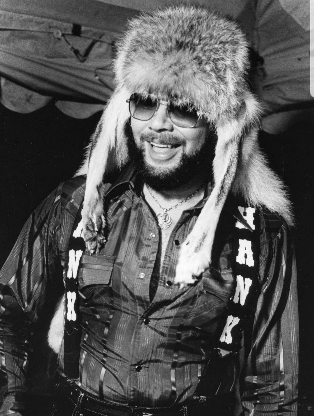 Hank Jr Wearing A Mountain Man Coyote Headdress A Gift From