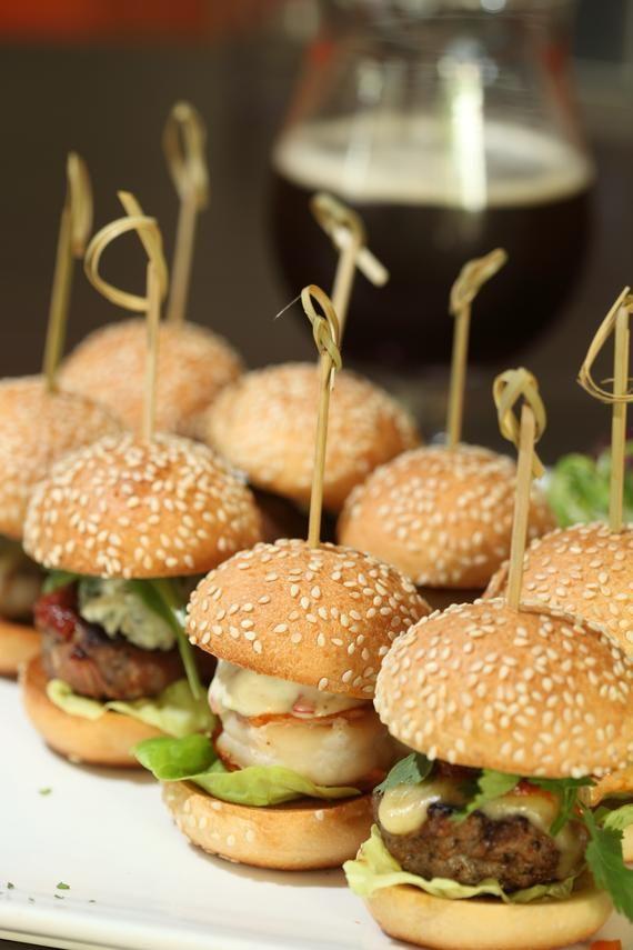 Mini burger tasting.