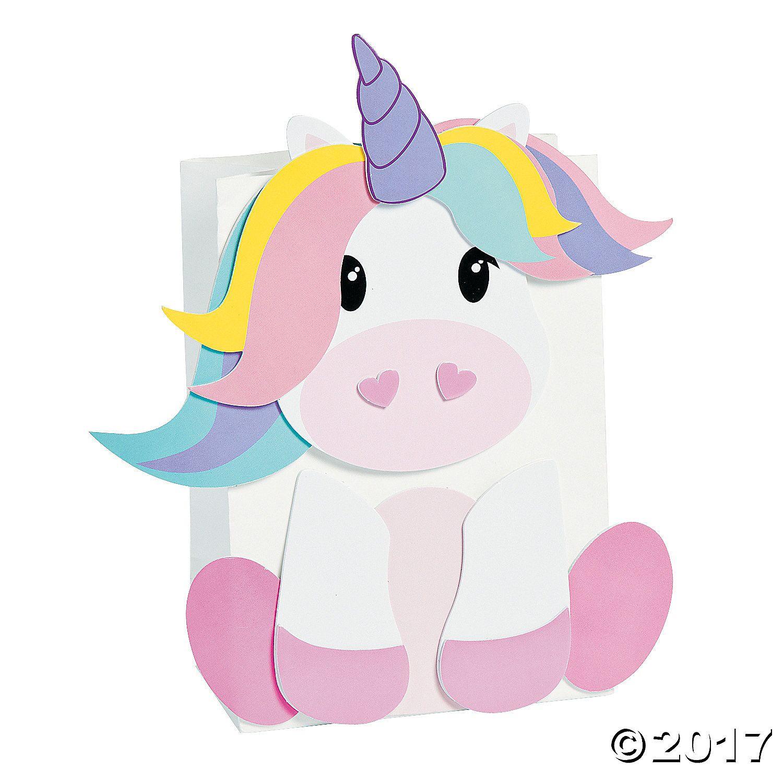Unicorn Valentine Card Holder Paper Bag Craft Kit