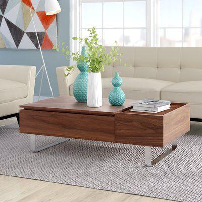 Corrigan Studio Gile Lift Top Coffee Table Lift Top Coffee Table Coffee Table With Storage Coffee Table Wayfair