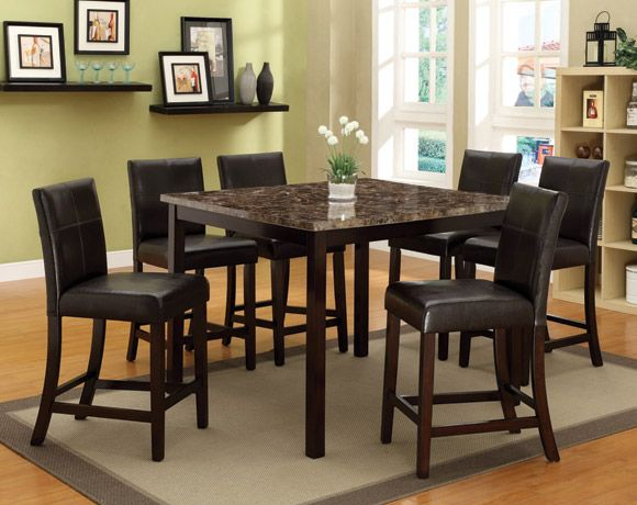 Pompei 5 Piece Counter Height Dining Set (American Freight) $400