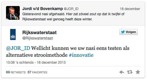 Rijkswaterstaat reageert
