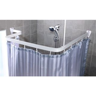 Shower Rail And Curtain To Go With A Shower Over The Bath Not In A Corner If I Chicken Out Of